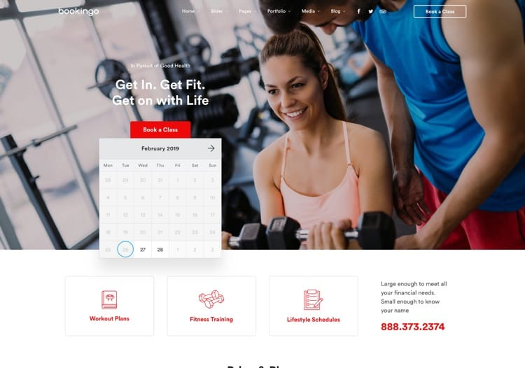 Home 7 – Fitness & Trainer